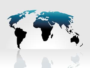 World Map Background Isolated On White