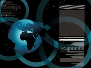 World Map Technology Style4
