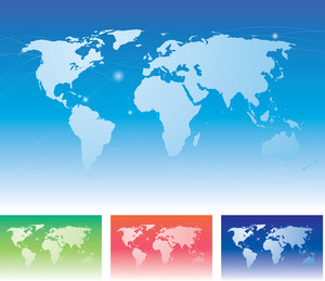 World Map. Vector.