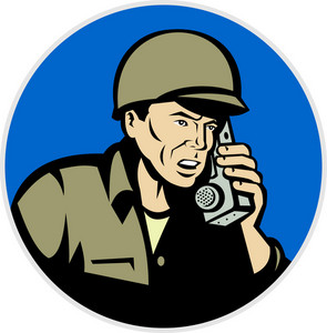 World War Two Soldier Talking Radio Walkie Talkie