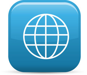 World Wide Web Elements Glossy Icon