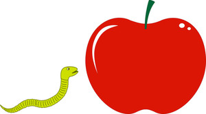 Worm With Apple