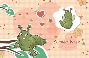 Worms In Love Vector Illustration