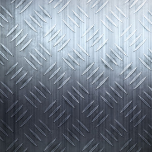 Worn diamond plate metal texture in a cool blue hue.