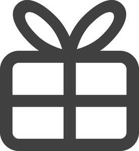 Wrapped Present Stroke Icon