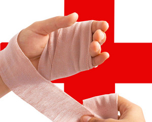 Wrapping A Bandage Around The Hand
