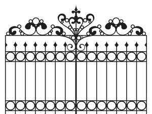 Wrought Iron Gate Vector Illustration