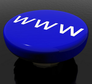 Www Button As Symbol For Website Or Internet