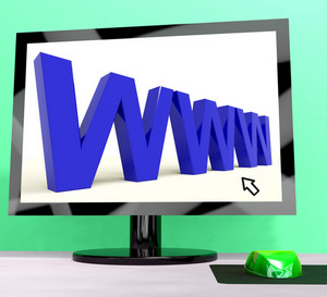 Www Computer Word Showing Online Websites Or Internet