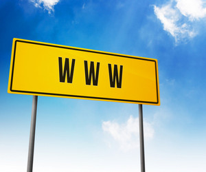 Www On Road Sign