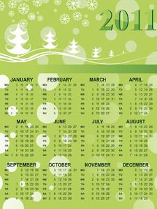 Xmas Background Calendar For 2011