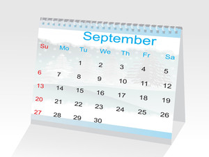 Year 2009 Calendar Showing The Month Of September