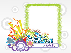 Year 2009 Creative Frame Design1