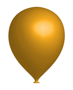 Yellow 3d Balloon Vector