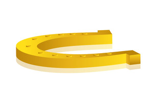 Yellow 3d Horseshoe