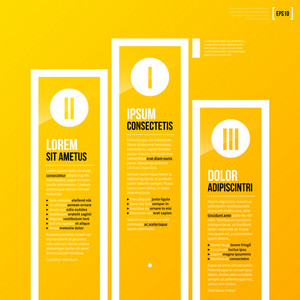 Pedestal Chart Template On Bright Yellow Background In Modern Corporate Style. Eps10