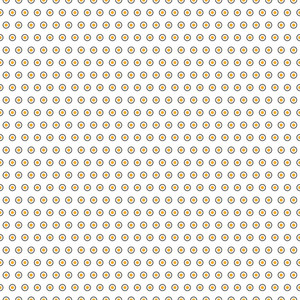 Yellow And Black Polka Dots Pattern On A White Background