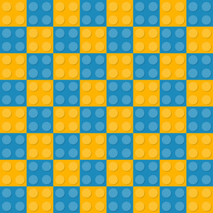 Yellow And Blue Square Lego Pattern