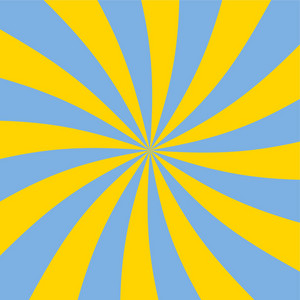 Yellow And Blue Swirled Car Pattern