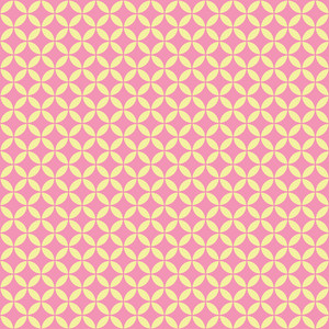 Yellow And Pink Circles Pattern