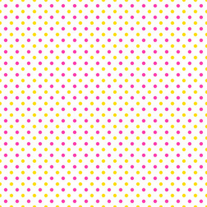Yellow And Pink Polka Dots Pattern On A White Background