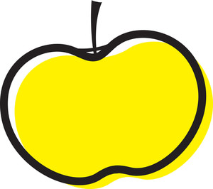 Yellow Apple Clipart