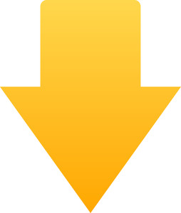 Yellow Arrow Icon On White Background