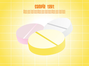 Yellow Background With Colorful Pills