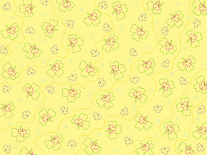 Yellow Backgroundw With Clover