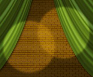 Yellow Brick Spotlight Texture