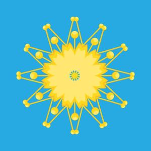 Yellow Decor Snowflake