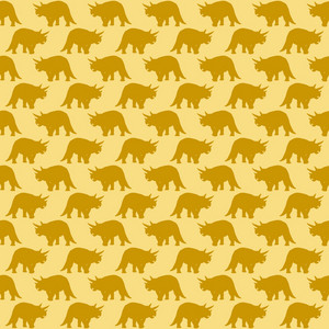 Yellow Dinosaur Pattern