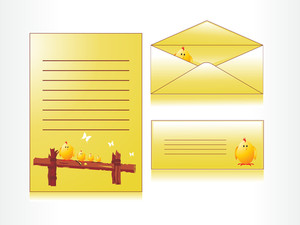Yellow Easter Day Envelop