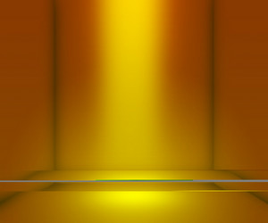Yellow Empty Interior Background