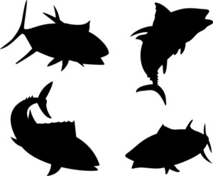 Yellow Fin Tuna Fish Silhouette