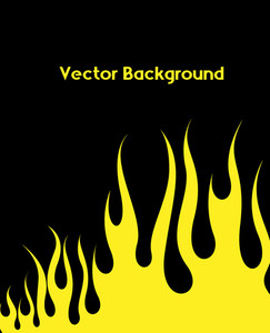 Yellow Fire Background