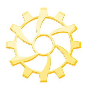 Yellow Gear Wheel