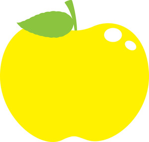 Yellow Glossy Apple