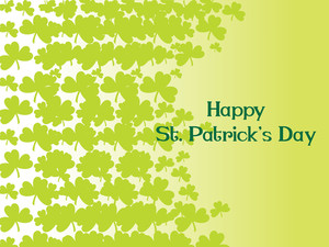 Yellow Green Background With Shamrock