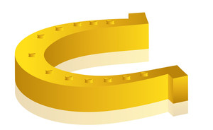 Yellow Horseshoe Vector Design