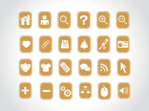 Yellow Icons Vector