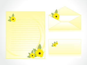 Yellow Letter Of Floral Background