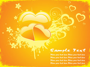 Yellow Love Background
