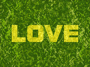 Yellow Love With Texture Background
