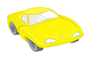 Yellow Modern Sports Car