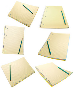 Yellow Notebook Isolated On White