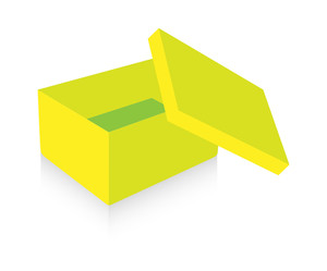 Yellow Open Box Vector