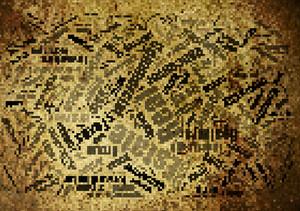Yellow Pixel Background