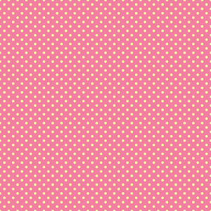 Yellow Polka Dots Pattern On A Pink Background