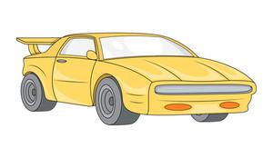 Yellow Sports Car